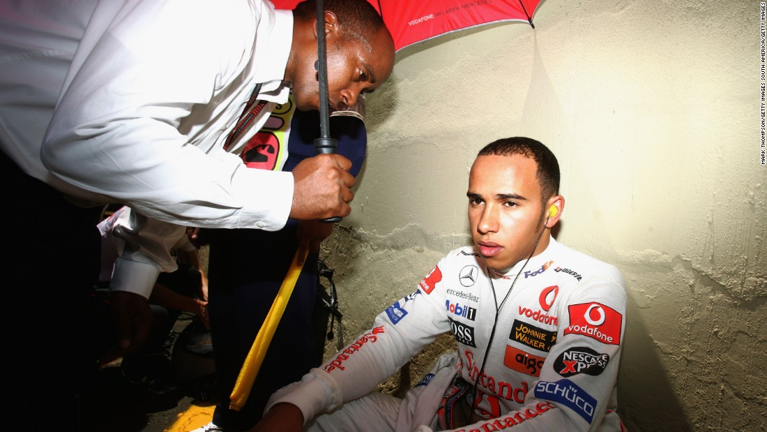 But it hasn't all been easy. During Hamilton's debut championships in 2007, his seventh place finish in Sao Paulo, Brazil (pictured), meant that he finished the championships in second place, a point behind Kimi Räikkönen.