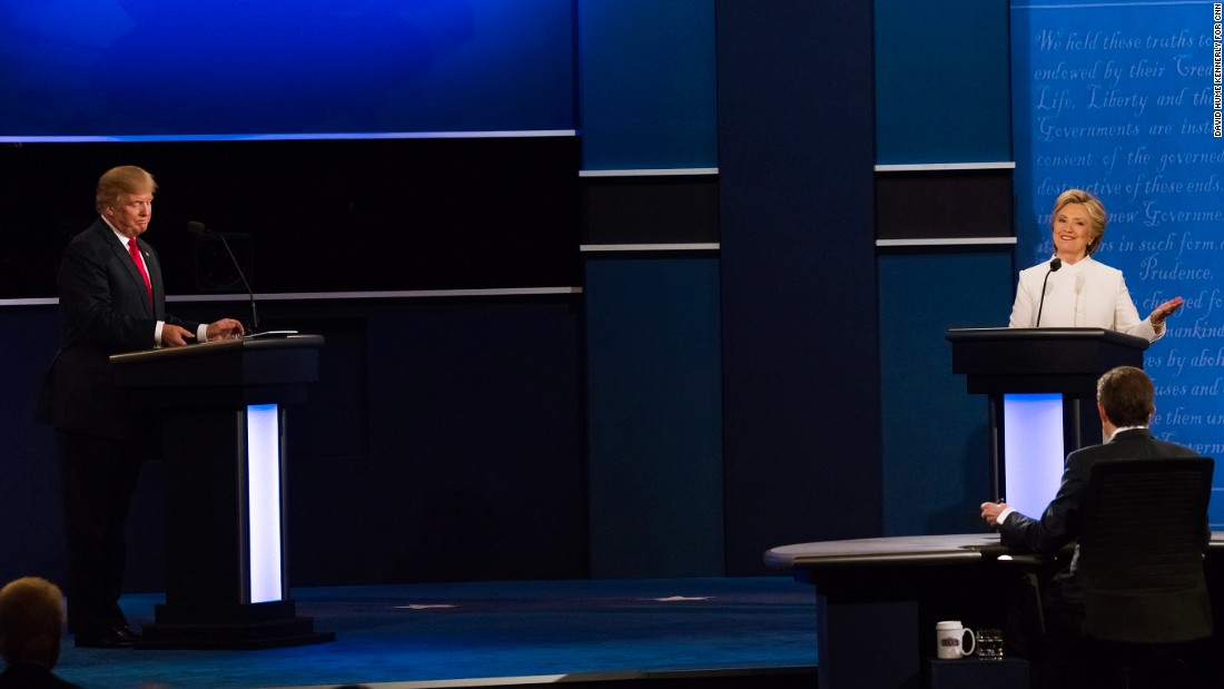 Clinton and Trump battled on several issues during the debate.