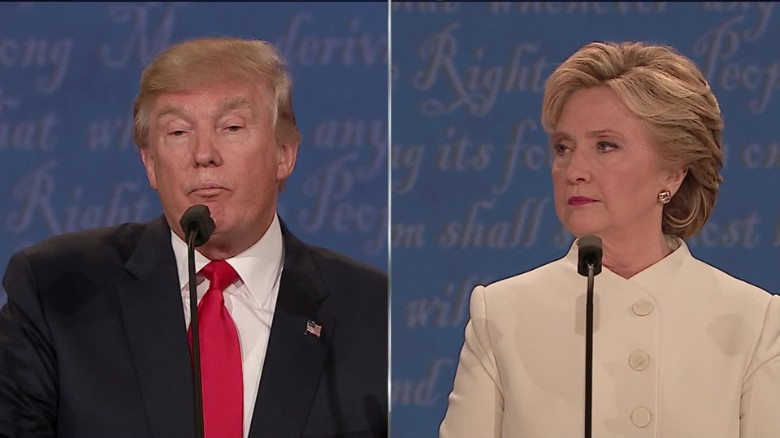 Clinton & Trump drop one-liners at the final debate