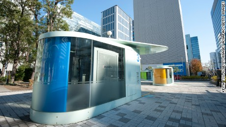 An Eco Cycle  elevator in Tokyo, Japan.