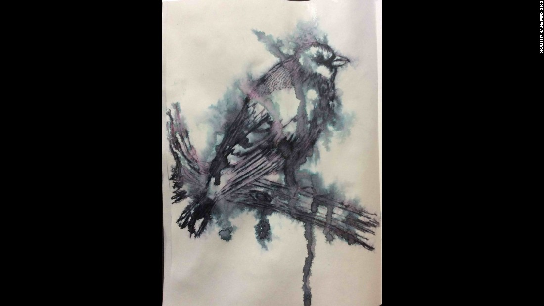 Wilkinson's bird drawing is her favorite Inktober sketch so far. The UK artist joined the challenge to use a medium she does not normally work with. She told CNN she is trying to work in a very loose sketch style to avoid worrying about mistakes.