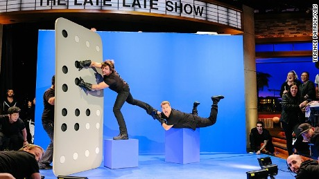 "Tom Cruise takes flight on ""The Late Late Show With James Corden."""