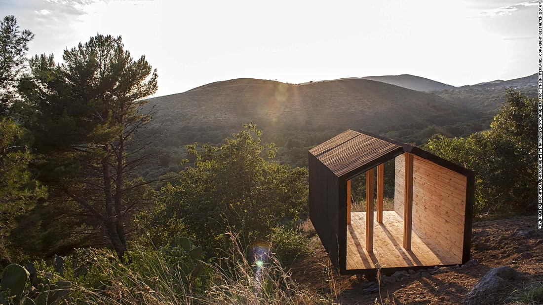 This cabin -- which is used as a place for meditation and prayer -- is an open-air space made to resemble the outline of a traditional home.