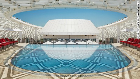 So cool: The pool at Yas Viceroy.