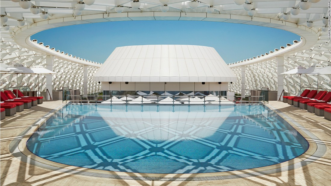 In between races, guests at Yas Viceroy can cool off in one of the hotel's pools.