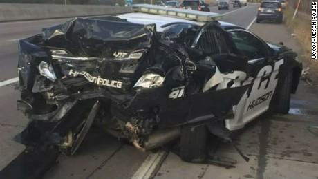 police cruiser crash wisconsin