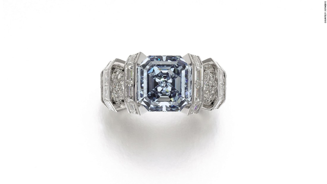 A rare Fancy Vivid Blue diamond ring valued at $25 million will go up for auction on November 16, 2016. The diamond is known as the Sky Blue diamond.
