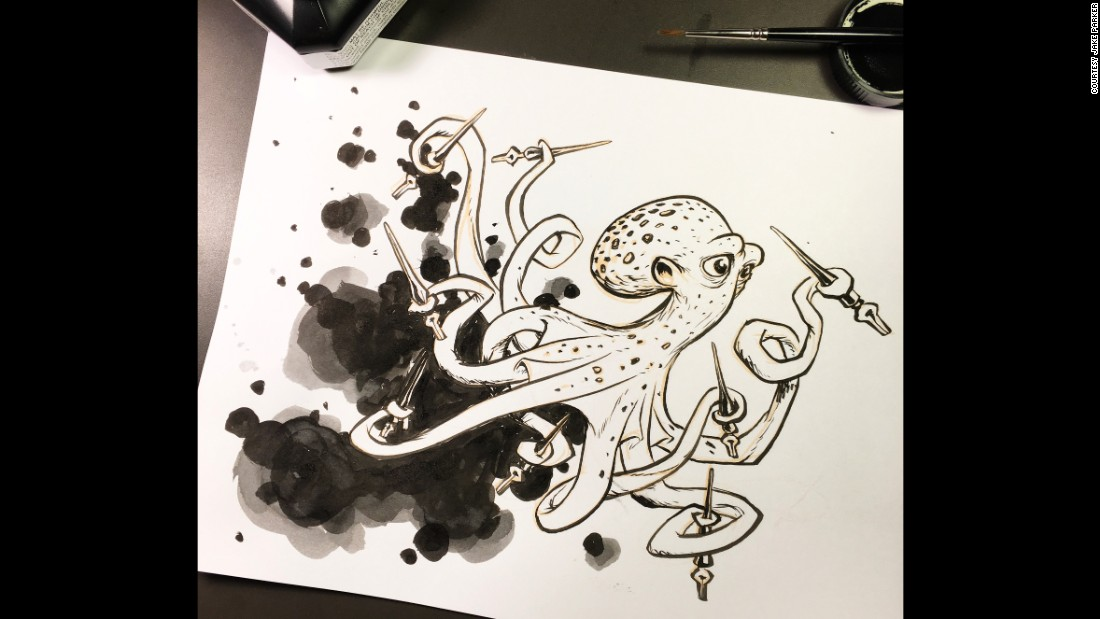 Illustrator and cartoonist Jake Parker started Inktober in 2009 as a challenge to improve his inking skills