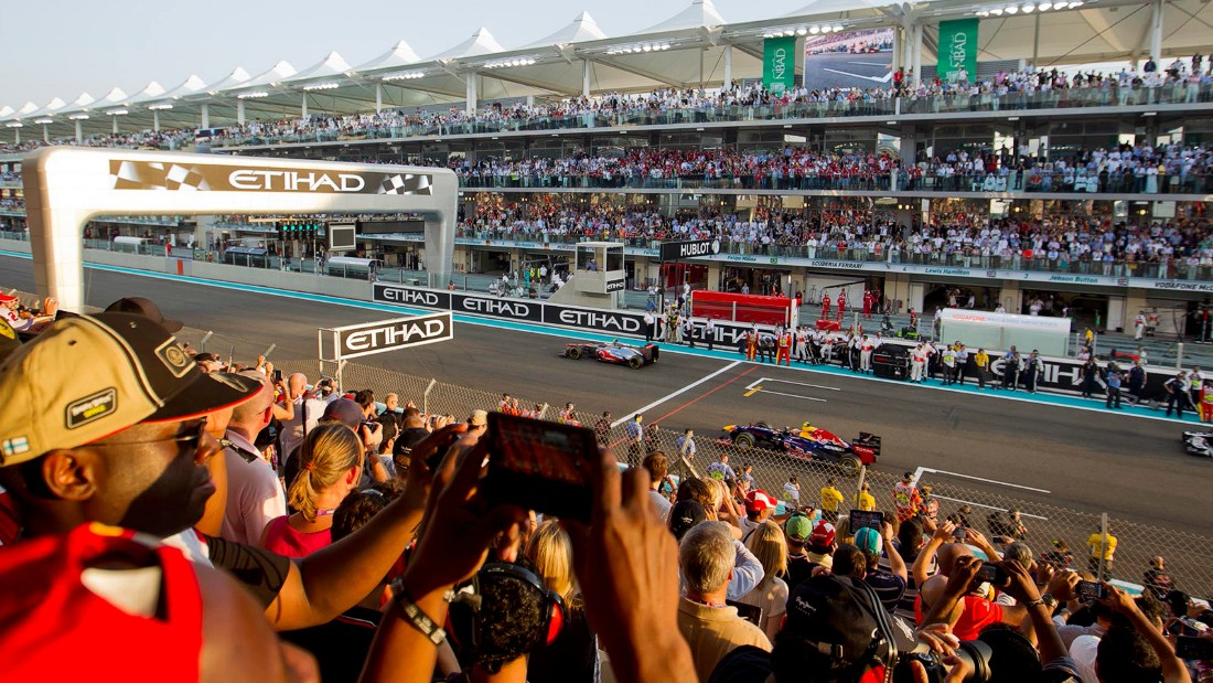 Standing tickets for the Grand Prix have the most modest price tags, starting at $108. Photo: Yas Marina Circuit.