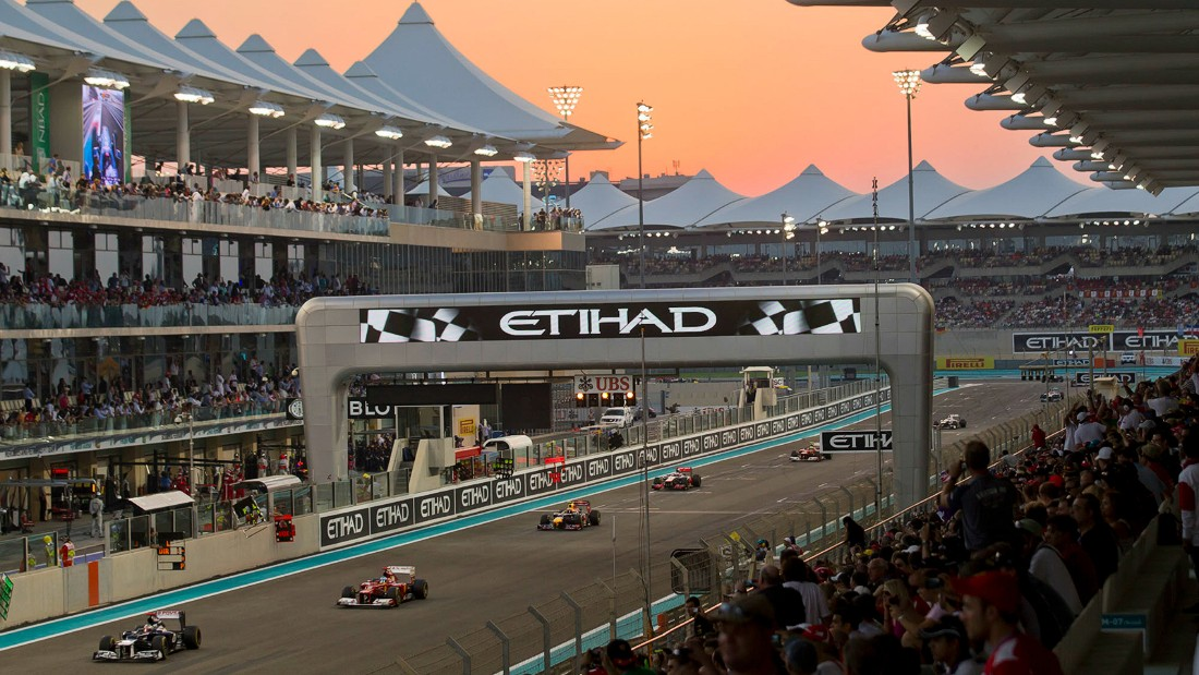 Hosted in the slick Yas Marina Circuit, the city's annual Grand Prix is expecting around 60,000 visitors. Photo: Yas Marina Circuit.