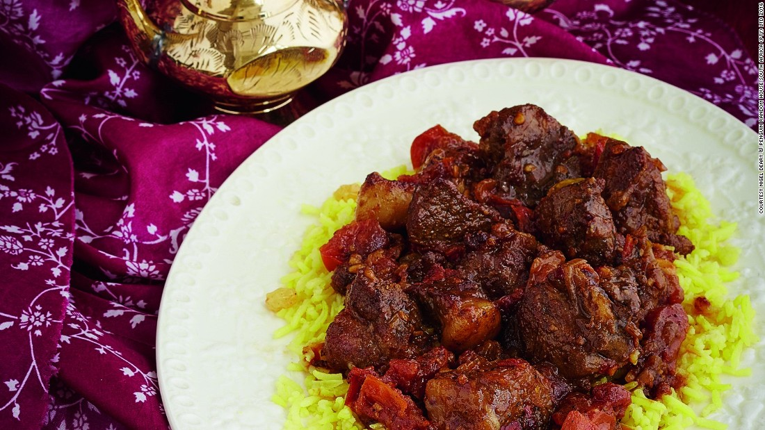 Today, the area is also known for its rich culinary traditions which include the flavors, recipes and spices brought by the slaves. Pictured here is a mavrou, a type of beef curry typically seasoned with ginger, garlic and a hint of cayenne pepper.