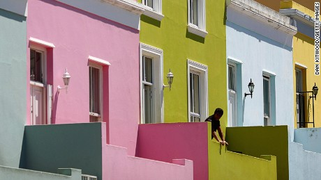Bo-Kaap is known for its brightly colored houses.