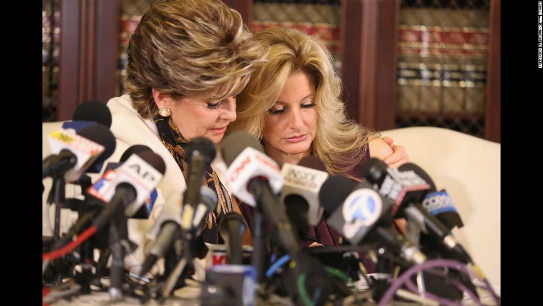 "Attorney Gloria Allred, left, holds a news conference with Summer Zervos, a former contestant on ""The Apprentice"" <a href=""http://www.cnn.com/2016/10/14/politics/donald-trump-women-accuser/index.html"" target=""_blank"">who has accused Donald Trump</a> of grabbing her breast and kissing her aggressively in 2007.  The presidential candidate disputed Zervos' allegations <a href=""https://www.donaldjtrump.com/press-releases/donald-j.-trump-statement8"" target=""_blank"">in a statement </a>on Friday, October 14. ""When Gloria Allred is given the same weighting on national television as the president of the United States, and unfounded accusations are treated as fact, with reporters throwing due diligence and fact-finding to the side in a rush to file their stories first, it's evident that we truly are living in a broken system,"" Trump said. At a rally that day in Charlotte, North Carolina, Trump called himself a ""victim"" as more women continued to come forward accusing him of sexual assault and harassment. ""I am a victim of one of the great political smear campaigns in the history of our country,"" he said."