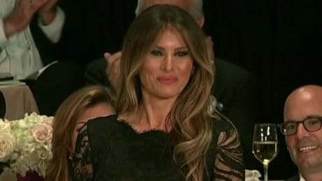 al smith dinner trump melania speech michelle obama sot_00005529.jpg