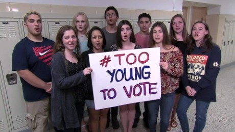 #TooYoungToVote but not too young to hope?