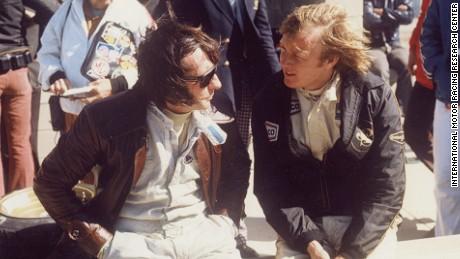 Jackie Stewart (left) at Watkins Glen in 1972.