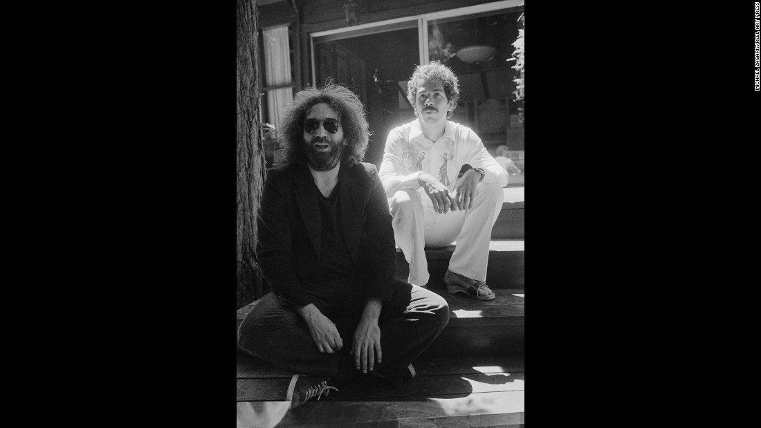 "Jerry Garcia, left, and Carlos Santana were two giants in the San Francisco music scene. ""The key to a lot of this when I shot ... was them trusting you and being able to let go,"" Zagaris said. ""You know in the end what I really want to do? I want to capture you either as you are or as you think you are or as you want to be."""