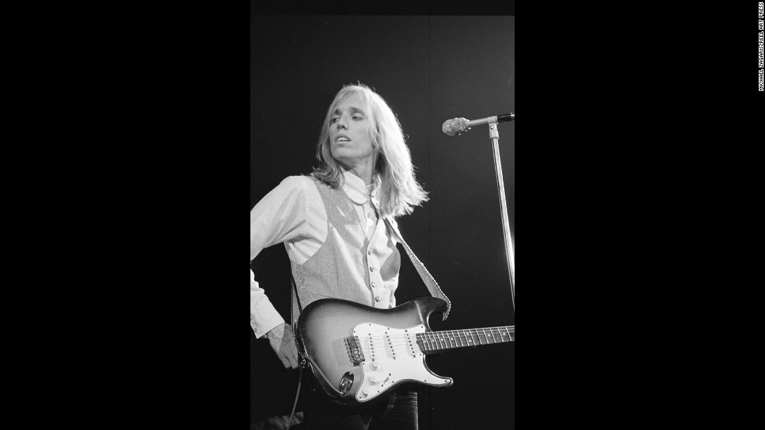 Tom Petty performs in San Francisco at the Fillmore West concert hall in 1975.