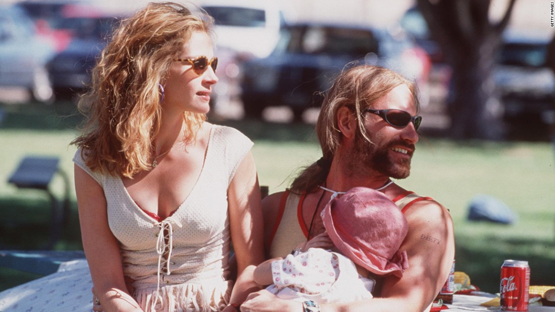 Aaron Eckhart played Brockovich's biker boyfriend, George.