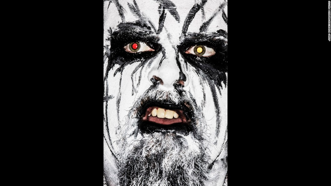 Erik Unsgaard, from Sarkom, wears makeup on stage like many black metal bands.