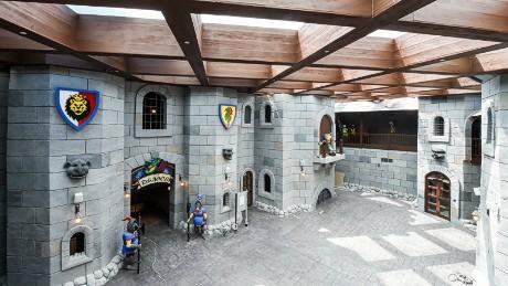 Young Lego enthusiasts can enter the Kingdoms Castle at Legoland Dubai.