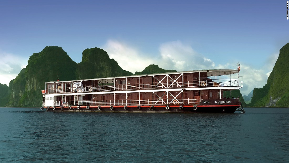 Beginning in Ha Long Bay, the RV Angkor Pandaw floats up the Red River to Hanoi, then into the clear rustic waters of the Da River. The journey takes 10 days.