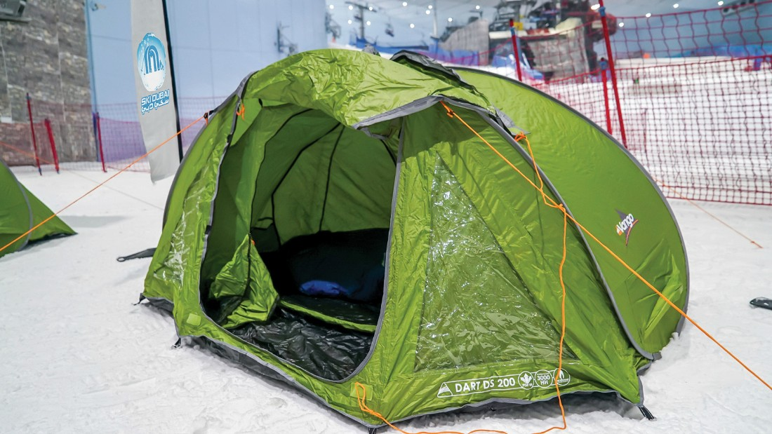For those who want to hit the slopes first thing, there's camping on ice. (Picture credit: Ski Dubai)