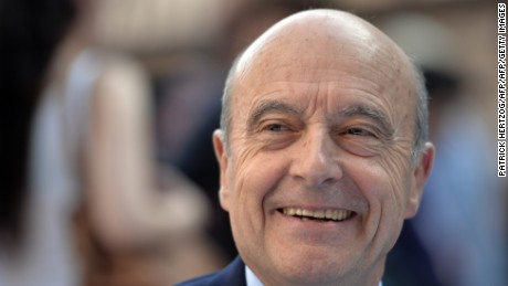French presidential candidate Alain Juppe