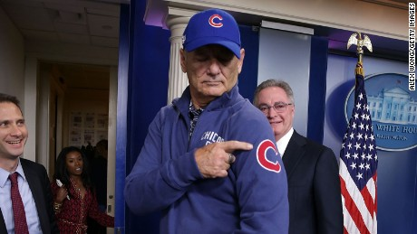 Bill Murray crashes White House briefing