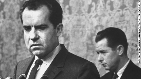 Richard M. Nixon concedes defeat at a press conference after his race for California governor in 1962 failed.
