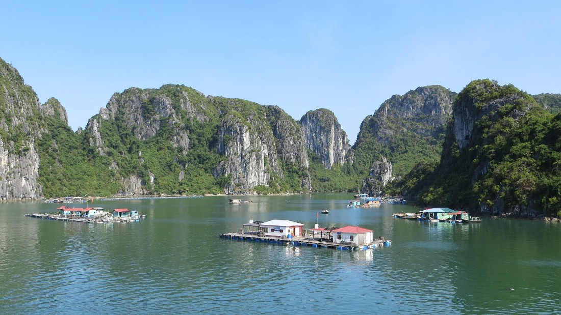 Ha Long Bay is a spectacular labyrinth of karst cliffs that thrust out of tranquil waters off Vietnam's northeast coast.