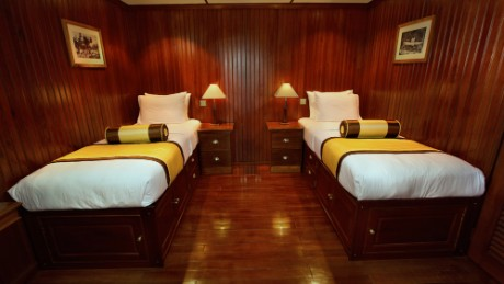 The RV Angkor Pandaw can accomodate up to 32 passengers.