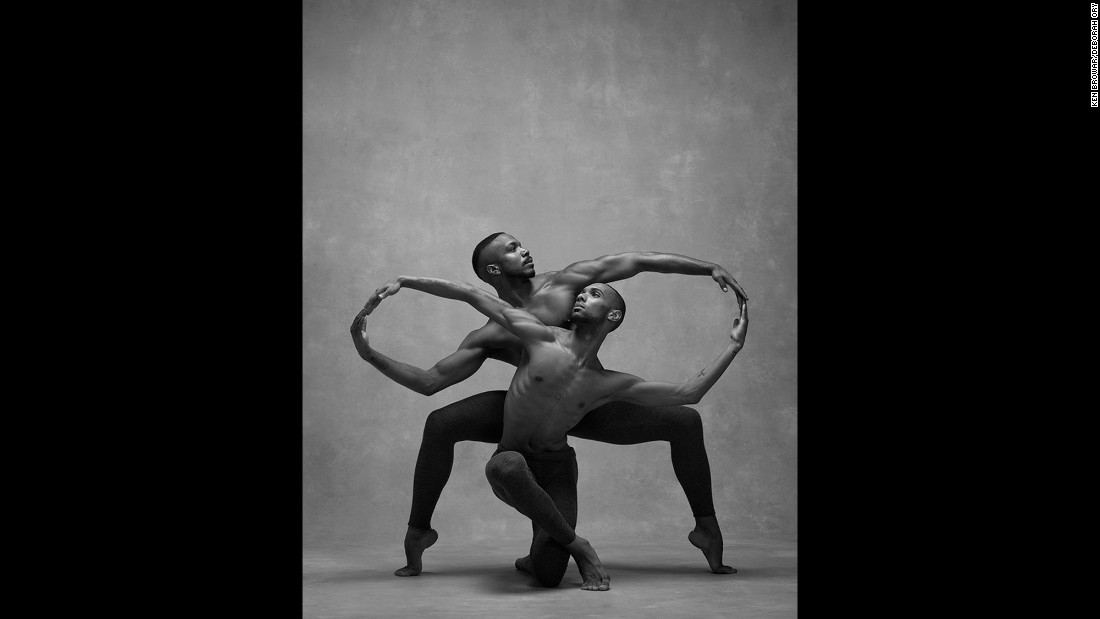 "Alvin Ailey American Dance Theater dancers Michael Jackson Jr., background, and Sean Aaron Carmon. ""I have always had long arms, which often made me embarrassed and self-conscious,"" Jackson said. ""Dance taught me to embrace and use them to speak the words I could not say."""
