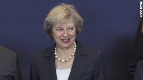 theresa may marks 100 days as british prime minister pkg foster_00005610