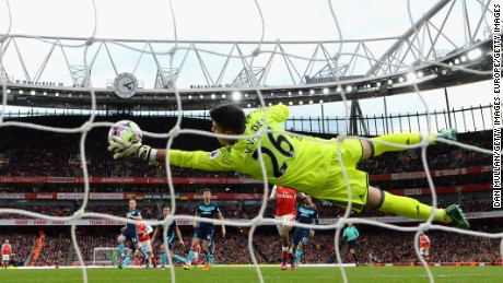 Middlesbrough's Victor Valdes kept his side in the game against Arsenal, helping to earn a point.