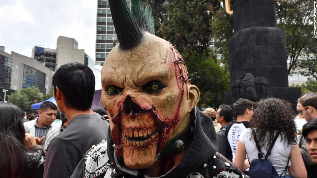 What's more punk than a zombie with a mohawk?