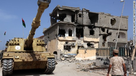 Sirte is now a war zone in the fight against ISIS