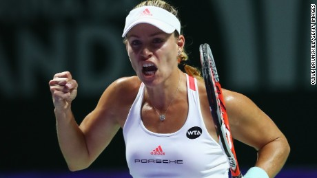 Angelique Kerber was relieved to get past Dominika Cibulkova in the Red Group opener.