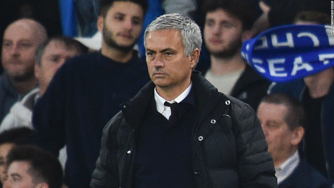 A miserable Mourinho watched on during United's humiliating English Premier League defeat to his old club Chelsea. As the 4-0 thrashing unfolded, the Portuguese stood stony-faced on the touchline with his hands in his pockets.