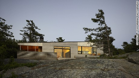 Shift Cottage, Canada, by Superkül architects.