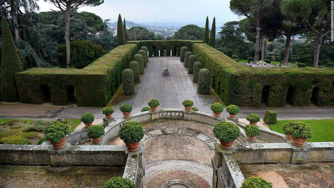 Castel Gandolfo is located 25 kilometers south of Rome. Pope Francis has only visited the palace a couple of times since being elected in 2013. In 2014, he opened the gardens to the public.