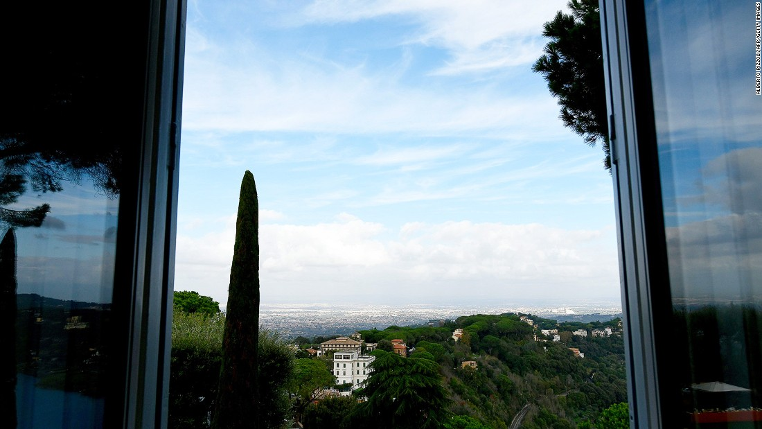 "This is the view from the newly opened apartments. More information is available on the <a href=""http://mv.vatican.va/3_EN/pages/MV_Home.html"" target=""_blank"">Vatican Museums</a> website."