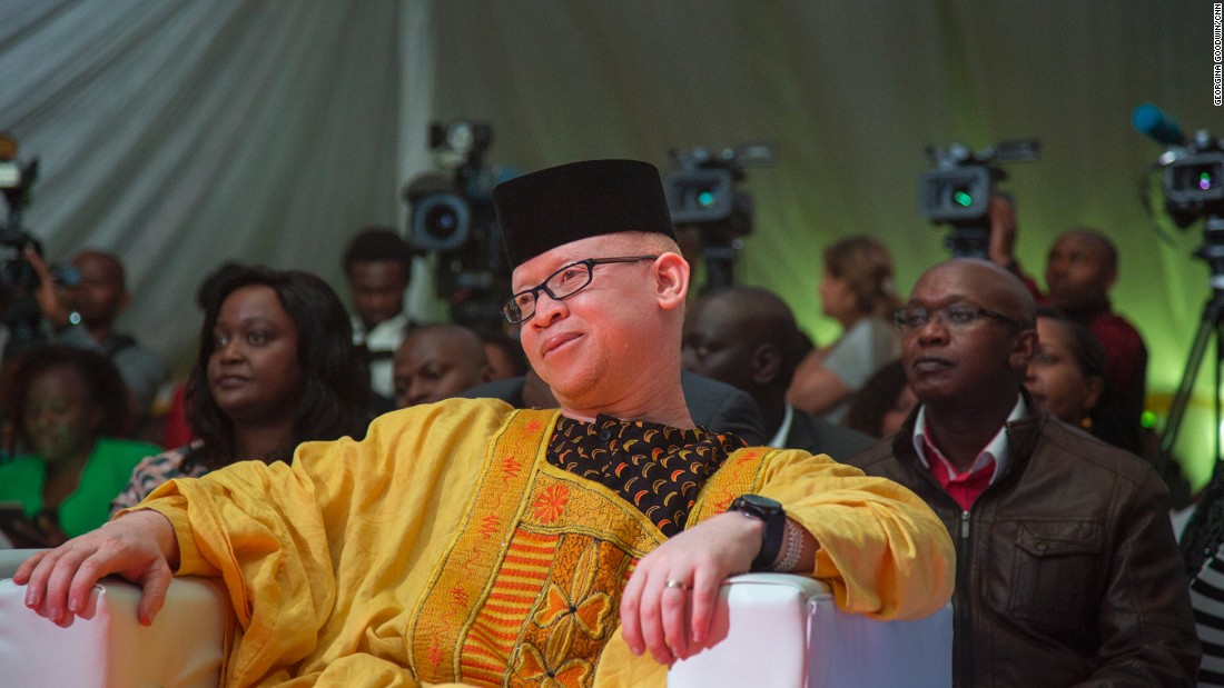 "MP Mwaura wants the world to understand that albinos are not ""mzungu"" -- ""white people"" -- but human beings."