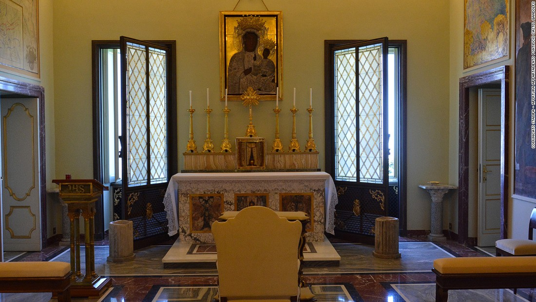 This private chapel is dedicated to Our Lady of Czestochowa. It's one of 20 newly opened rooms at the papal palace.