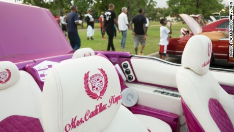"""""""Mrs. Cadillac"""" has put her stamp on this cockpit."""