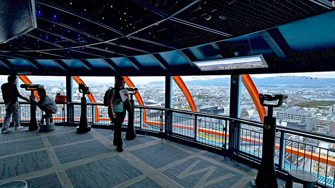 The 131-meter Kyoto Tower offers panoramic views of the city.