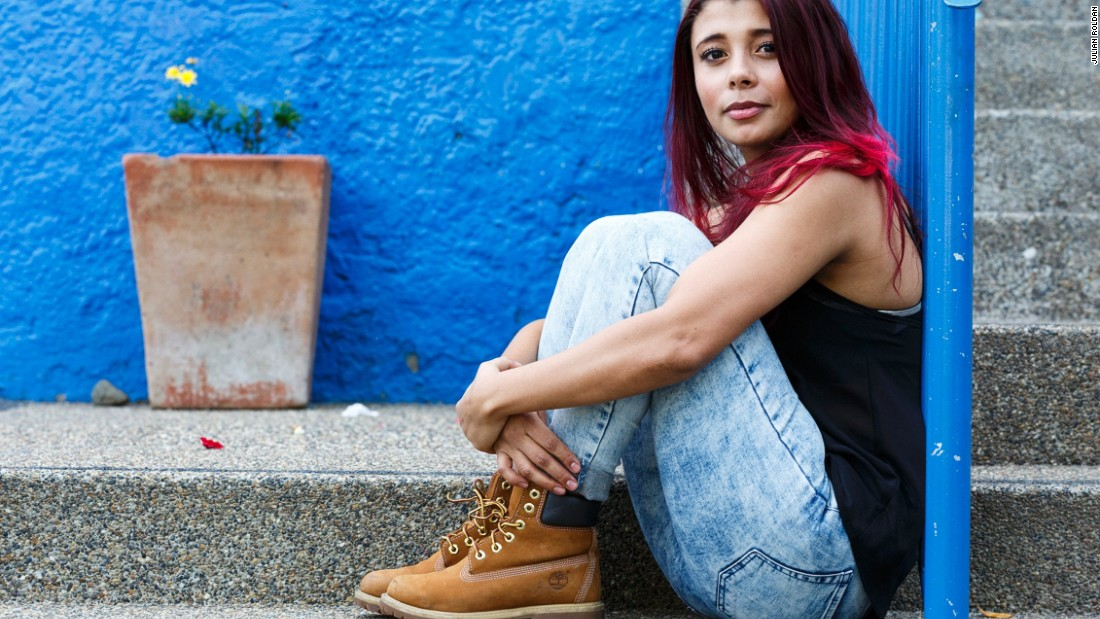 """Monica Morales is a 21-year-old university student who was orphaned aged four. She received a scholarship from Orphaned Starfish Foundation  to study fashion design. """"My dream is to be a great fashion designer, a great dancer, a great person and help to build more dreams for others,"""" she says."""