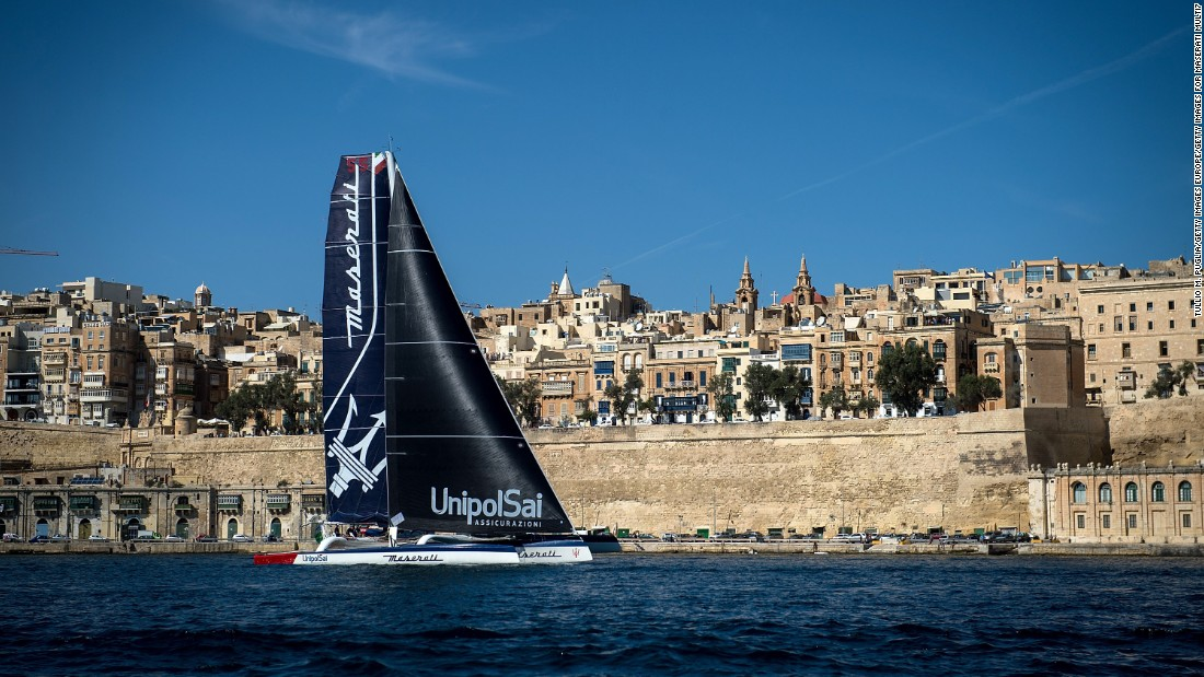 Maserati, skippered by Giovanni Soldini, took multihull line honors in a record time of two days, one hour and 25 minutes.