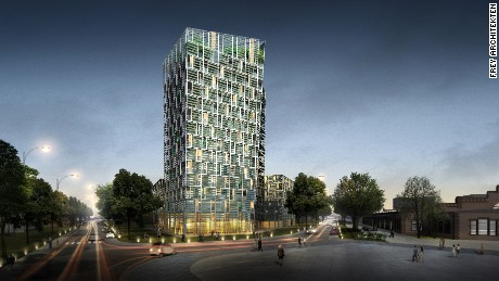 Rendering of the Smart Green Tower.