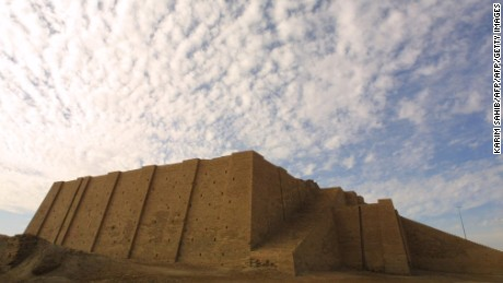 The famous Ziggurat, a three-tiered edifice dating back to 2113 B.C., stands more than 17 meters high in the ancient city of Ur in southern Iraq